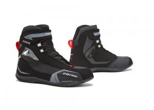 Zapatos Moto Forma Urbana Cuero Impermeable Viper Negro