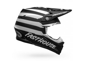 Casco Bell Off-Road Motocross Moto-9 Mips Fasthouse Signia Negro Mate Blanco