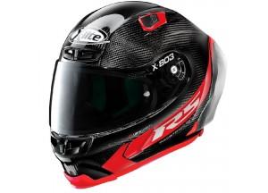 Casco Integral X-Lite X-803 RS Ultra Carbon HOT LAP 13 Negro Rojo