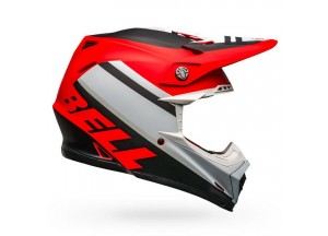 Casco Bell Off-Road Motocross Moto-9 Mips Prophecy Mate Rojo Negro Blanco