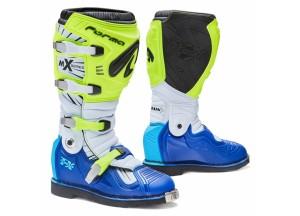 Botas Forma Off-Road Motocross MX Terrain TX Amarillo Fluo Blanco Azul