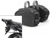 Satteltaschen Givi EA100B + Abstandshalter für Yamaha FZ6/Fazer (04>06)