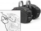 Satteltaschen Givi EA100B + Abstandshalter für Yamaha XJ6 (09 > 12)