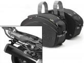 Satteltaschen Givi EA100B + Abstandshalter für Kawasaki ZZR 1400 (12 > 16)