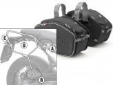 Satteltaschen Givi EA101B + Abstandshalter für BMW R NINE T (14 > 16)