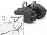 Satteltaschen Givi EA101B + Abstandshalter für Aprilia Dorsoduro 750