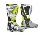 Stiefel Forma Off-Road Motocross MX Predator 2.0 Grau Weiß Gelb Fluo