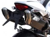 ZD115APO - Auspufftöpfe Zard Penta Schwarzes Ducati Monster 696 / 769 / 1100