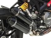 ZD118CSR - Auspufftöpfe Zard Overlapped Kohlenstoff Ducati Monster 1100 EVO