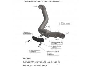 16024 - Auspuff Mitte Rohr LeoVince katalysierten