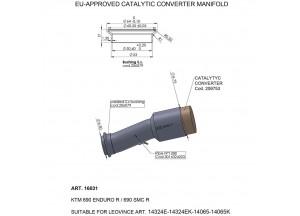 16031 - Auspuff Mitte Rohr LeoVince katalysierten