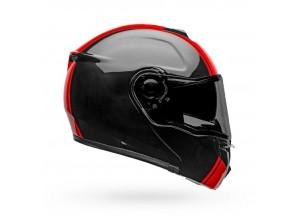 Helm Modular Geöffnet Bell Srt Ribbon Glänzend Schwarz Rot