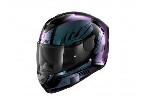 Integral Helm Shark D-SKWAL 2 Dharkov Schwarz Violett Glitter