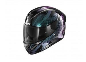 Integral Helm Shark D-SKWAL 2 Shigan Schwarz Violet Glitter