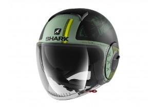 Jet Helm Shark METRO SHARK NANO Tribute Rm Mat Schwarz Grün