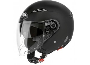 Helm Jet Airoh City One Color Schwarz Matt
