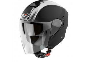 Helm Jet Airoh Hunter Simple Schwarz Matt