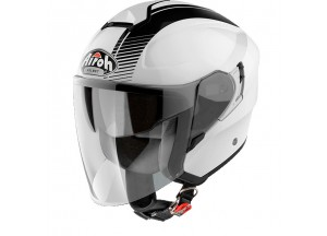 Helm Jet Airoh Hunter Simple Glanzed weiß