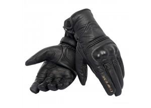 Motorradhandschuhe Corbin Unisex D-dry Leder  Schwarz/Schwarz/Schwarz