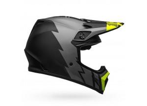 Helm Bell Off-road Motocross Mx-9 Mips Strike Matt Grau Schwarz Gelb