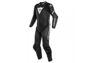 Motorradlederanzug Perforiert Dainese Laguna Seca 4 Matt Schwarz Weiß