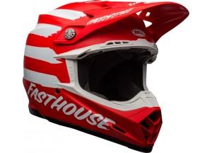 Helm Bell Off-road Motocross Moto-9 Mips Fasthouse Signia Matt Rot Weiß