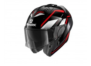Modular Helm Geöffnet Discovery Shark EVO-ES YARI Schwarz Rot Weiß