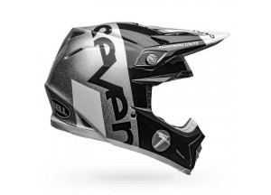 Helm Bell Off-road Motocross Moto-9 Carbon Flex Seven Galaxy Schwarz Silber