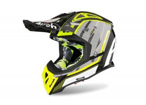 Integral helm Off-Road Airoh Aviator 2.3 Glow Gelb Chrome