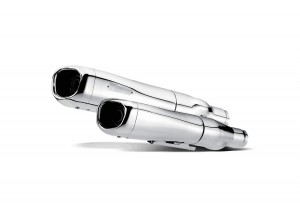 S-HDDYSO2-HC - Akrapovic Auspuff Racing Cromo Harley-Davidsons FXD Super Glide