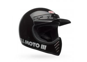 Helm Bell Off-road Motocross Moto-3 Classic Schwarz Glänzend