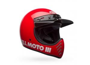 Helm Bell Off-road Motocross Moto-3 Classic Rot Glänzend