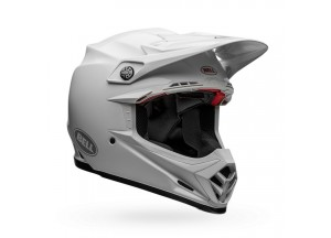 Helm Bell Off-road Motocross Moto-9 Carbon Flex Solid Weiß