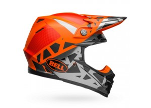 Helm Bell Off-road Motocross Moto-9 Mips Tremor Schwarz Orange Chrome