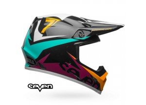 Helm Bell Off-road Motocross Mx-9 Mips Seven Ignite Schwarz Aqua