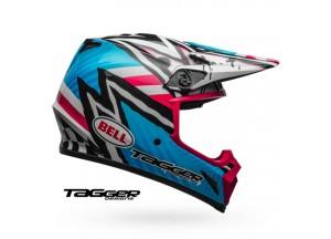 Helm Bell Off-road Motocross Mx-9 Mips Tagger Asymmetric Blau Rose