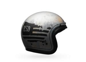 Helm Jet Bell Custom 500 SD 74 Schwarz/Silber