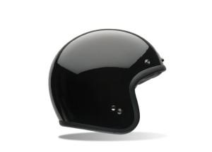Helm Jet Bell Custom 500 Solid Glossy Black