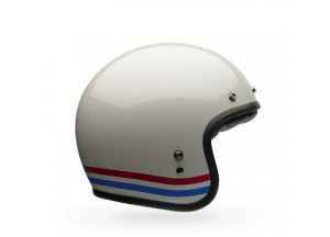 Helm Jet Bell Custom 500 DLX SE Stripes Weiße Perle