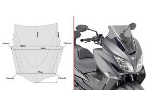 D3115S - Givi Spezifisches Sport Windschild niedrig Suzuki Burgman 400 17>18