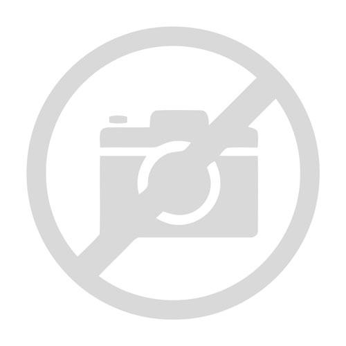 Lederjacke Dainese Assen Perforiertes Leder Weiß/Schwarz/Lava-Rot