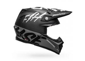 Helm Bell Off-road Motocross Moto-9 Carbon Flex Fasthouse Schwarz Weiß Grau