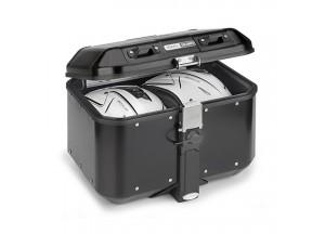 DLM46B - Givi Trekker Dolomiti Monokey Topcase aus Aluminium schwarz lackiert 46