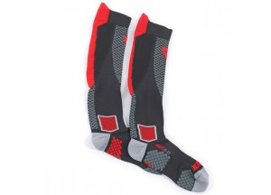 Socken Dainese D-CORE HIGH SOCK Schwarz/Rot