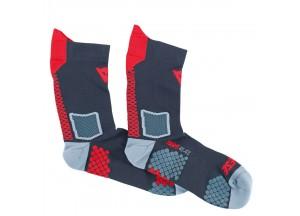 Socken Dainese D-CORE MID SOCK Schwarz/Rot