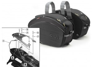 Satteltaschen Givi EA100B + Abstandshalter für Honda XL 650V Transalp
