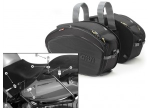 Satteltaschen Givi EA100B + Abstandshalter für Honda CBF 500/600/1000