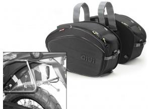 Satteltaschen Givi EA100B + Abstandshalter für Honda XL 700V Transalp (08>13)