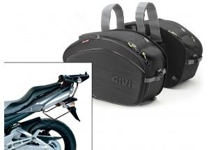 Satteltaschen Givi EA100B + Abstandshalter für Honda GSR 600 (06>11)