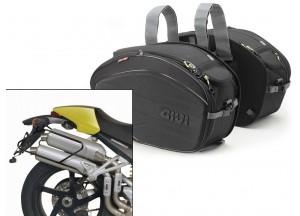 Satteltaschen Givi EA100B + Abstandshalter für Ducati Monster (04>08)